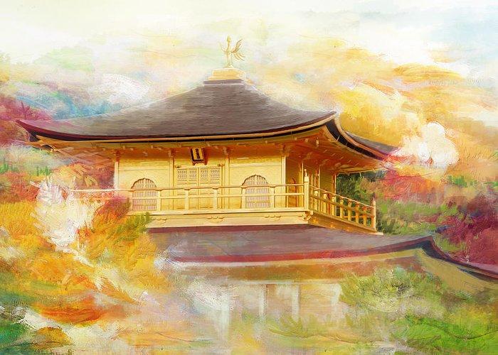 Japanbuddhist Monuments In The Horyu-ji Areahimeji-joshirakami-sanchiyakushimahistoric Monuments Of Ancient Kyoto (kyoto Greeting Card featuring the Historic Monuments Of Ancient Kyoto Uji And Otsu Cities by Catf