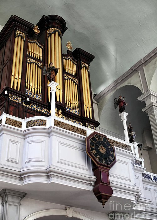 Historic Organ Greeting Card featuring the photograph Historic Organ by John Rizzuto