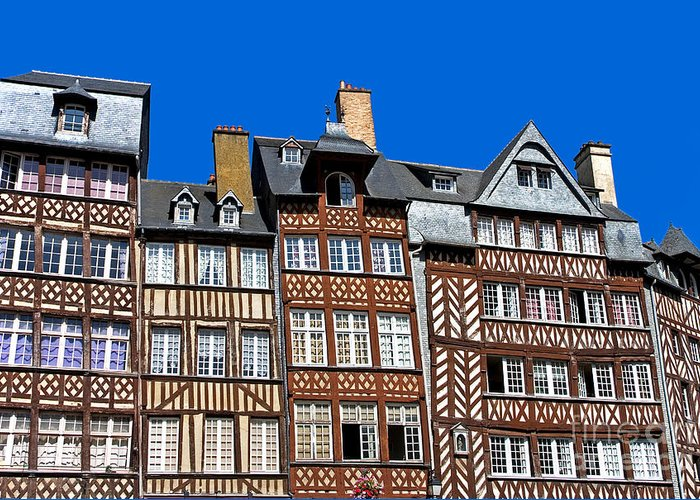 Architectural Greeting Card featuring the photograph Historic Rennes by Jane Rix