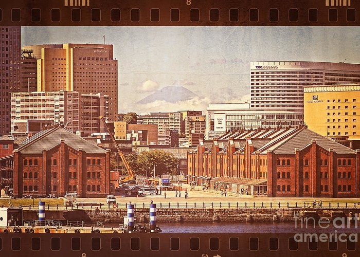 Mount Fuji Greeting Card featuring the photograph Historical Red Brick Warehouses by Beverly Claire Kaiya