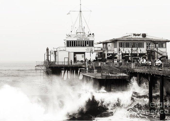 Hitting The Santa Monica Pier Greeting Card featuring the photograph Hitting The Santa Monica Pier by John Rizzuto