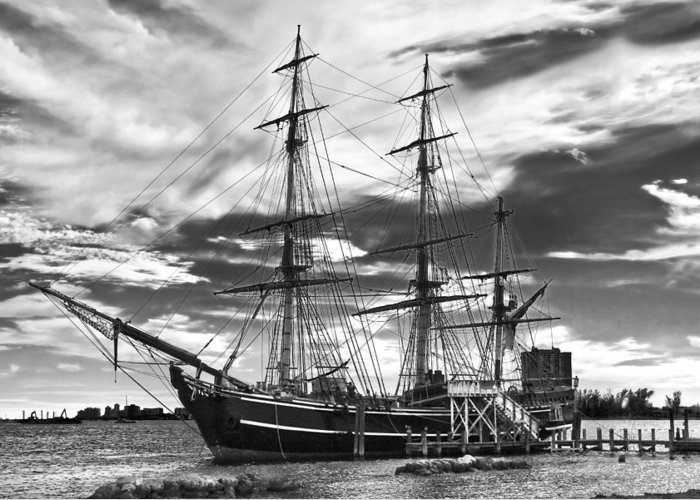 Clouds Greeting Card featuring the photograph Hms Bounty Singer Island by Debra and Dave Vanderlaan