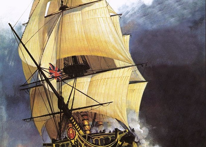 Galleons Drawings Greeting Cards