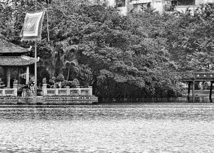 Vietnam Greeting Card featuring the photograph Hoan Kiem Lake II by Chuck Kuhn