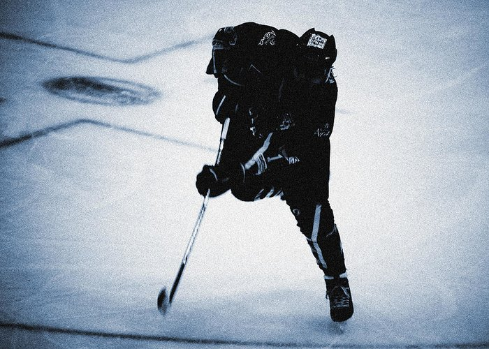 Ice Greeting Card featuring the photograph Hockey 1 by Alan Oliver
