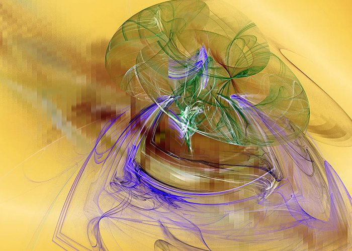 Abstract Greeting Card featuring the digital art Holiday In Cambodia by Jeff Iverson