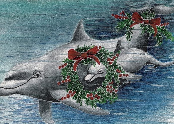 Designs Greeting Card featuring the painting Holiday Smile by Joy Bradley