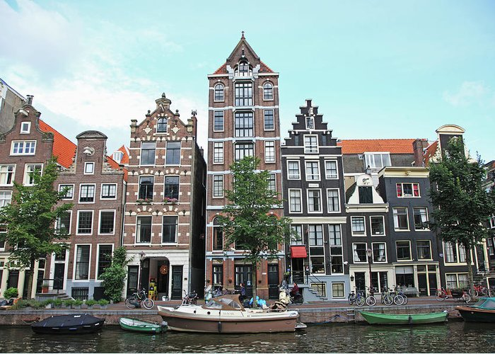 Netherlands Greeting Card featuring the photograph Holland, Amsterdam by Hiroshi Higuchi