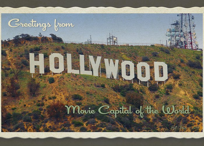 Hollywood Greeting Card featuring the photograph Hollywood Postcard by Bill Jonas