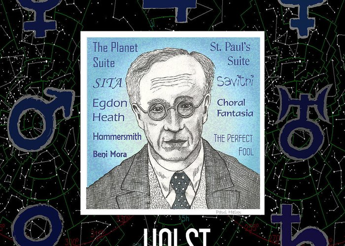 Holst Greeting Card featuring the drawing Holst by Paul Helm