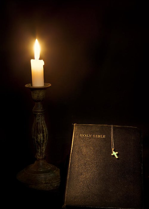 Bible Greeting Card featuring the photograph Holy Bible by Bill Wakeley