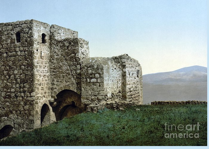 1895 Greeting Card featuring the photograph Holy Land: Ruins by Granger