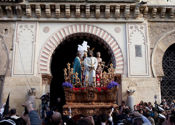 Cordoba Greeting Card featuring the photograph Holy Week Celebration In Cordoba by Artur Bogacki