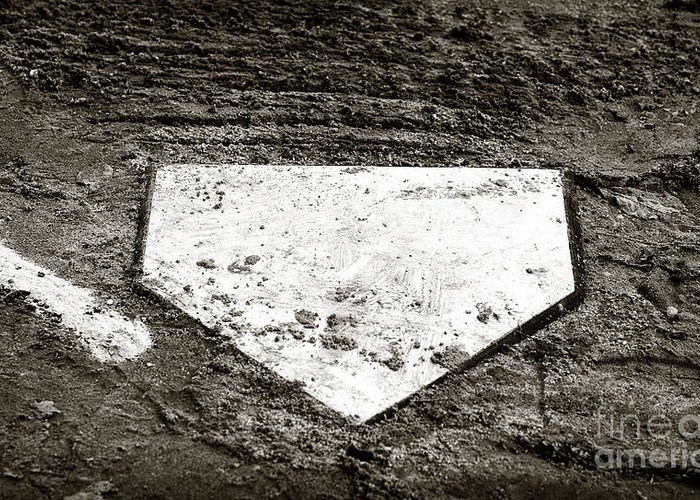 Home Plate Greeting Card featuring the photograph Home Plate by John Rizzuto