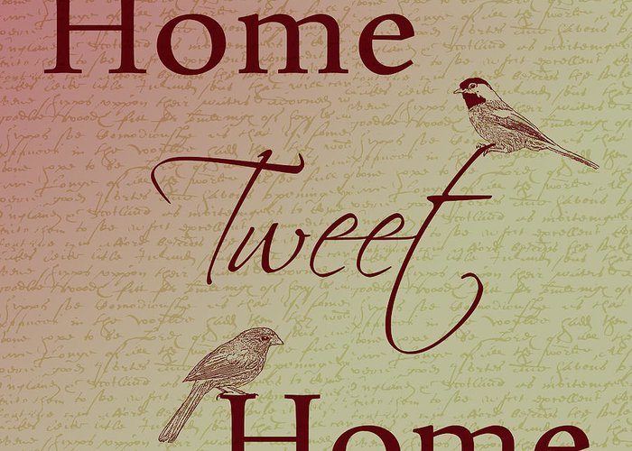 Home Tweet Home Greeting Card featuring the photograph Home Tweet Home Birds by P S