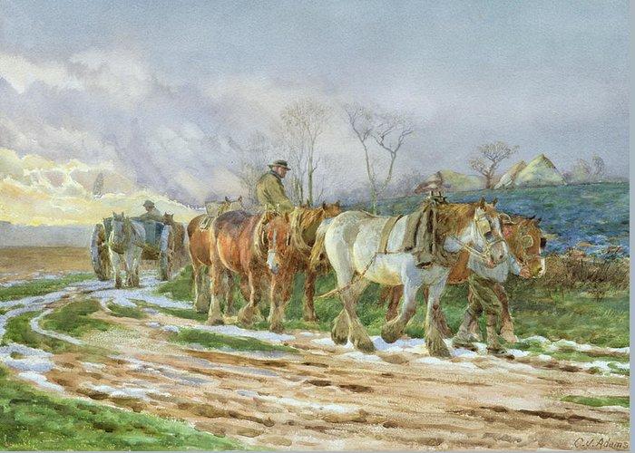 Mud Season Paintings Greeting Cards