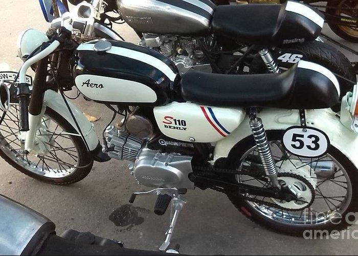 Honda Cafe Racer For Sale >> Honda Benly S110 Cafe Racer Greeting Card