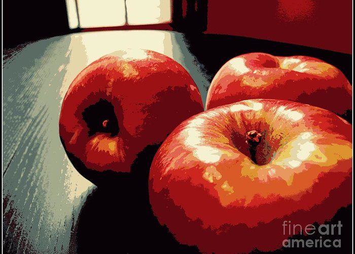 Honey Crisp Apples Greeting Card featuring the photograph Honey Crisp Apples by Beth Ferris Sale