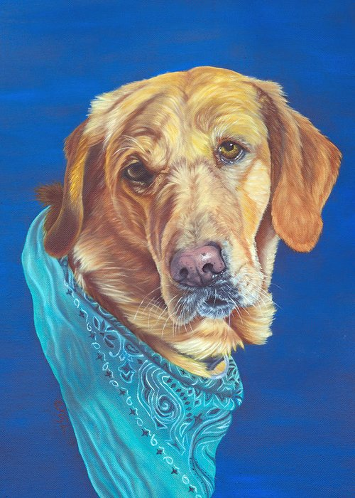 Animal Greeting Card featuring the painting Honey by Lana Tyler