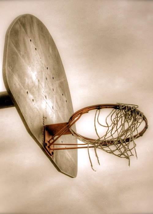 Basketball Greeting Card featuring the photograph Hoop by Steve Ratliff