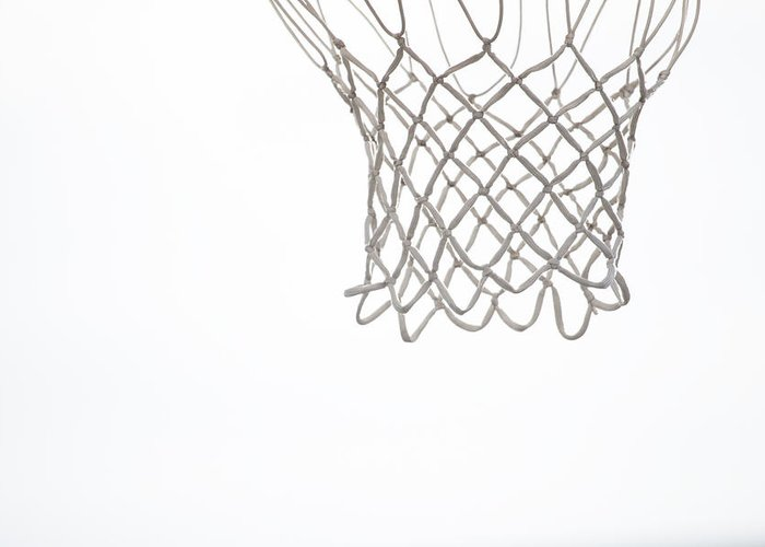 Basketball Greeting Card featuring the photograph Hoops by Karol Livote