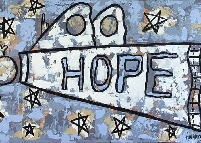 Hope Greeting Card featuring the painting Hope by Anthony Falbo
