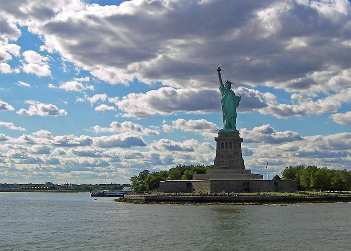 New York City Greeting Card featuring the photograph Hope Island by Sharla Gentile