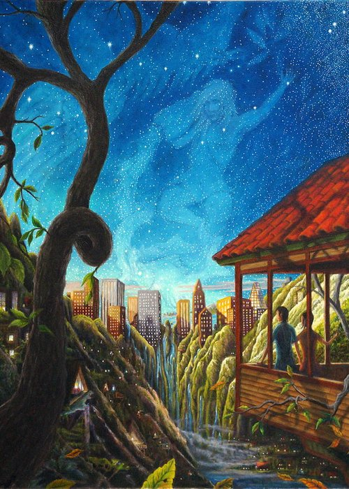 Hope Greeting Card featuring the painting Hope by Matt Konar