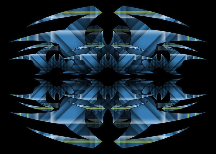 Abstract Greeting Card featuring the digital art Horizons Past 2 by Brian Johnson