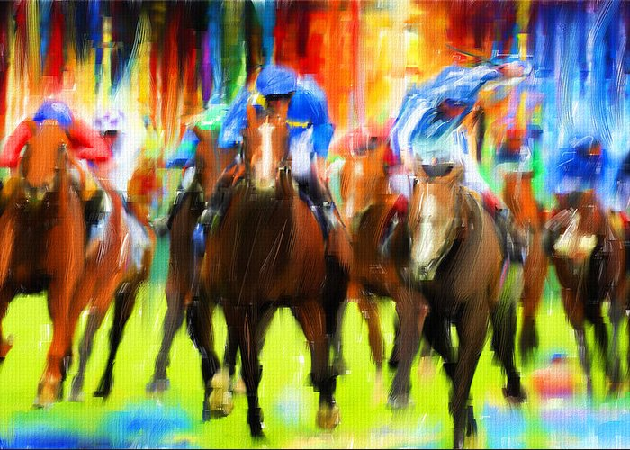 Horseracing Greeting Cards