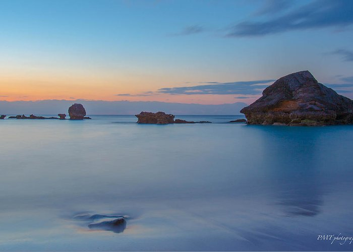 Bermuda Greeting Card featuring the photograph Horseshoe Bay Sunrise by Paul Treseler