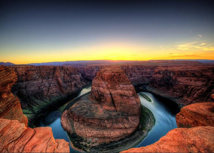 Horseshoe Bend Greeting Card featuring the photograph Horseshoe Bend by Dave Files
