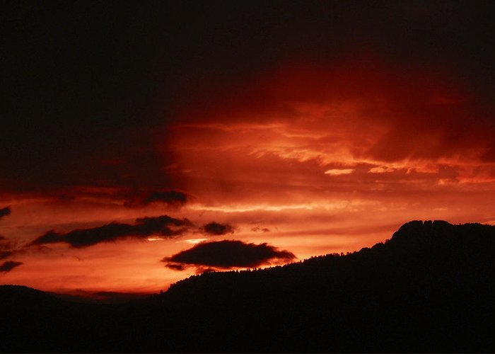 Nature Greeting Card featuring the photograph Horsetooth Sunset by David Kehrli