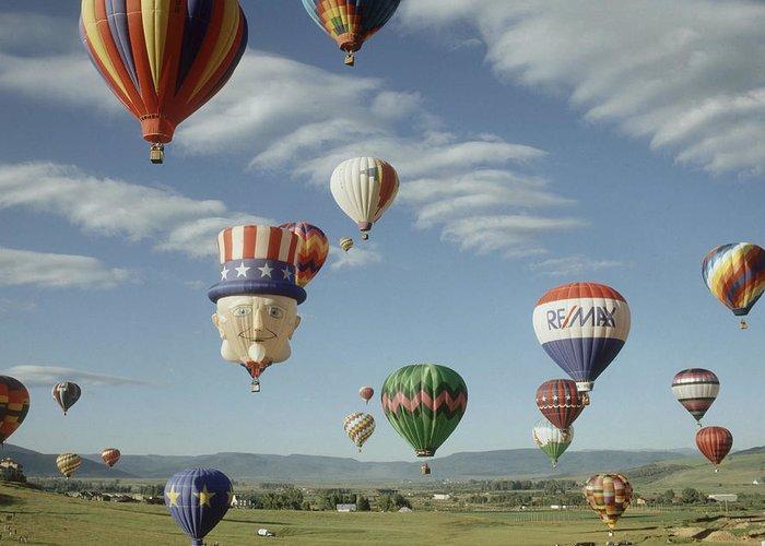 Hot Air Balloon Greeting Card featuring the photograph Hot Air Balloon by Jim Steinberg