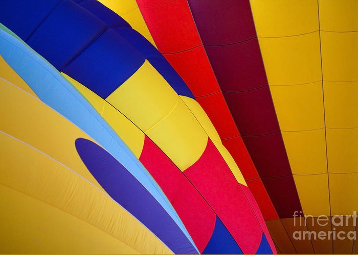 Balloons Greeting Card featuring the photograph Hot-air Patterns by Mike Dawson