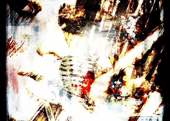 Hot Greeting Card featuring the digital art Hot Cigar by Andrea Barbieri