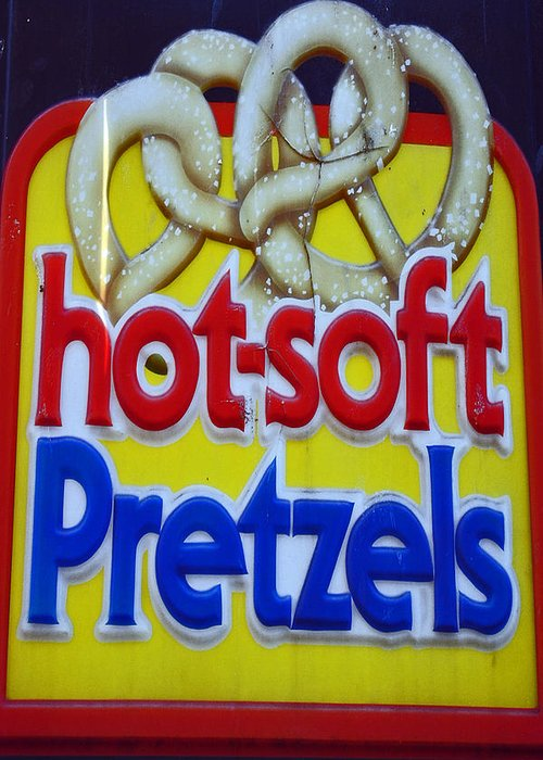 Fair Greeting Card featuring the photograph Hot Pretzels by Skip Willits