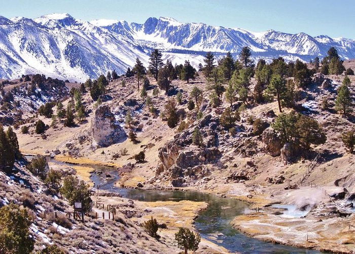 Mammoth Greeting Card featuring the photograph Hot Sierra Spring by Marilyn Diaz