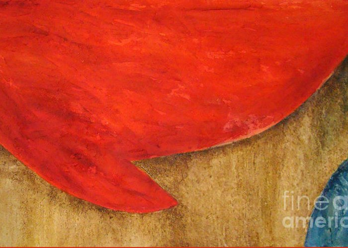Abstract Greeting Card featuring the painting Hot Spot by Silvana Abel
