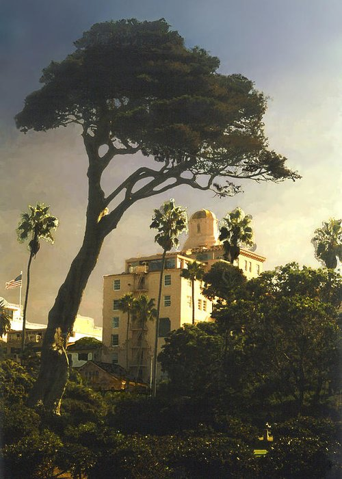 Landscape Greeting Card featuring the photograph Hotel California- La Jolla by Steve Karol