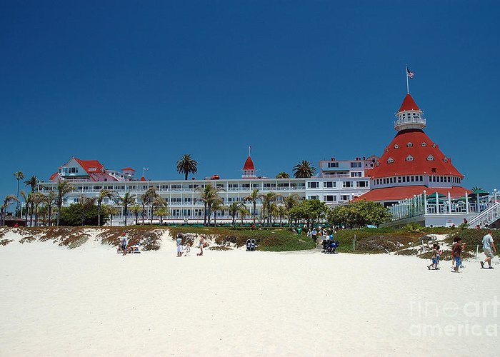 Hotel Greeting Card featuring the photograph Hotel Del Coronado by Micah May