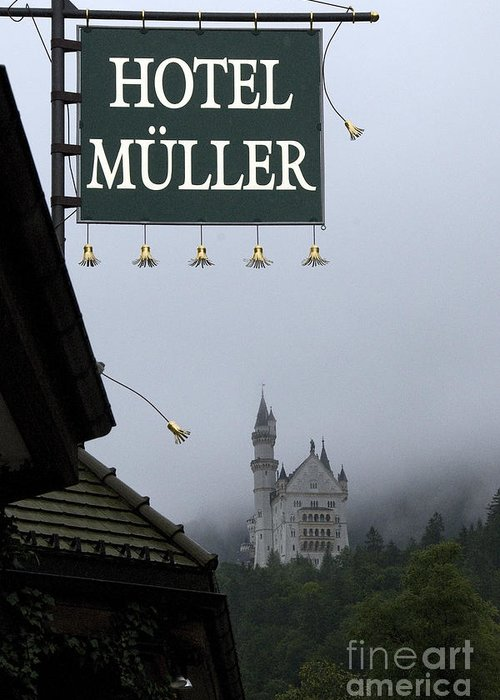 Architecture Greeting Card featuring the photograph Hotel Muller by Richard Patrick