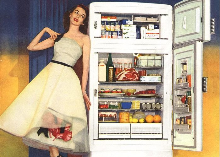 Vintage Appliance Greeting Cards