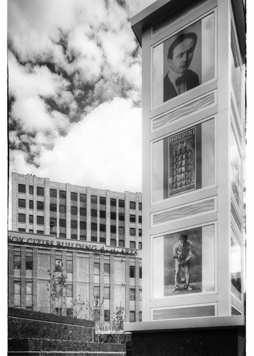 Houdini Plaza Greeting Card featuring the photograph Houdini Plaza by Thomas Young