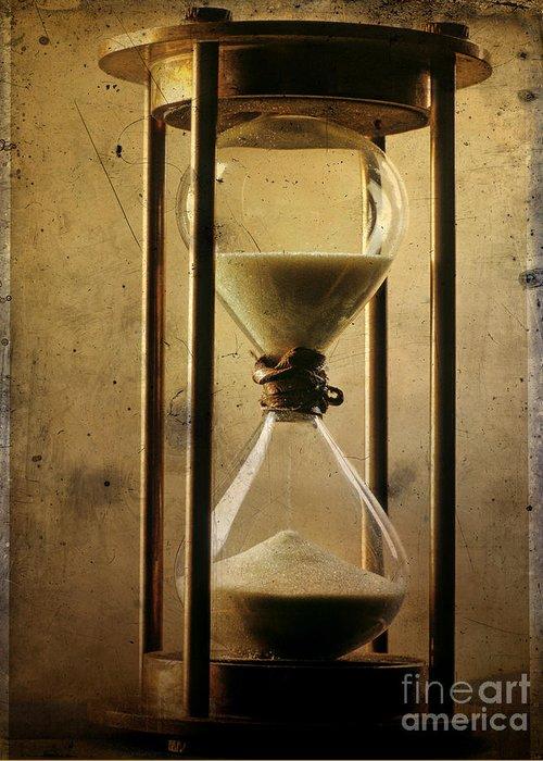 Clock Greeting Card featuring the photograph Hourglass by Bernard Jaubert