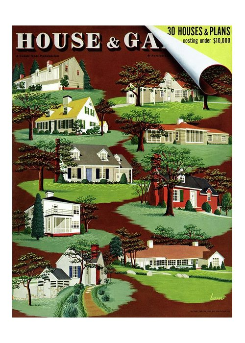 House & Garden Greeting Card featuring the photograph House & Garden Cover Illustration Of 9 Houses by Robert Harrer