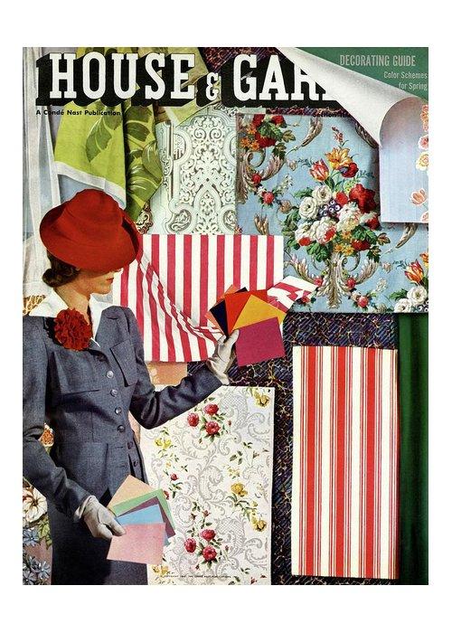 House & Garden Greeting Card featuring the photograph House & Garden Cover Illustration Of A Woman by Joseph B. Platt