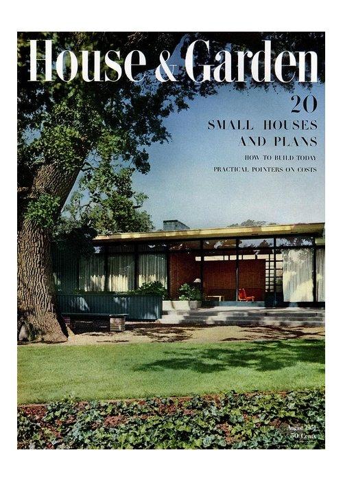 House & Garden Greeting Card featuring the photograph House & Garden Cover Of The Kurt Appert House by Ernest Braun