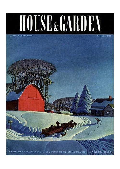 House And Garden Greeting Card featuring the photograph House And Garden Christmas Decoration Cover by Dale Nichols