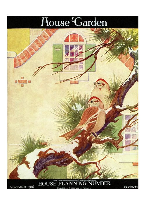 Illustration Greeting Card featuring the photograph House And Garden Cover by Charles Livingston Bull